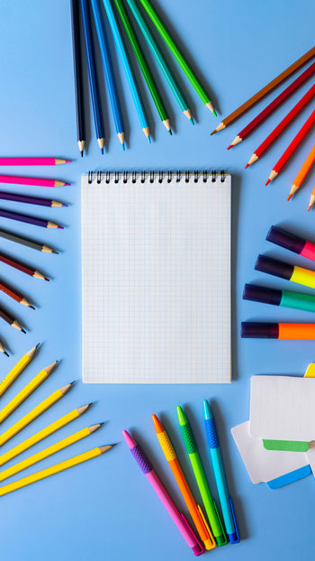 Diverses sortes de stylos