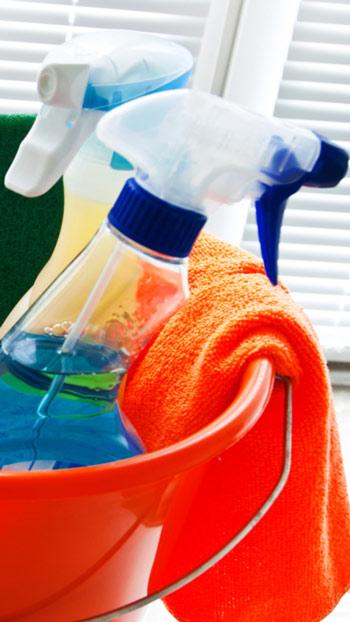 مواد التنظيف المختلفة