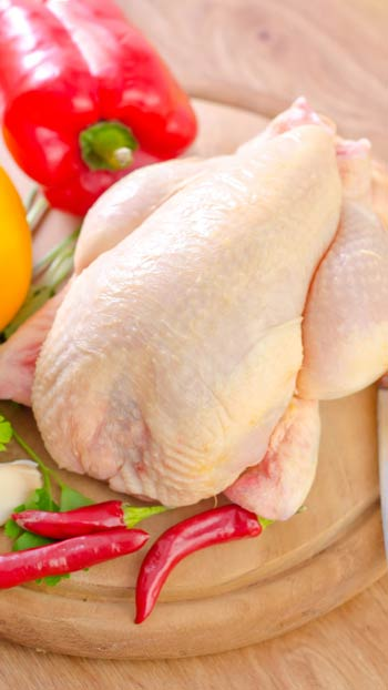 الدجاج المجمد